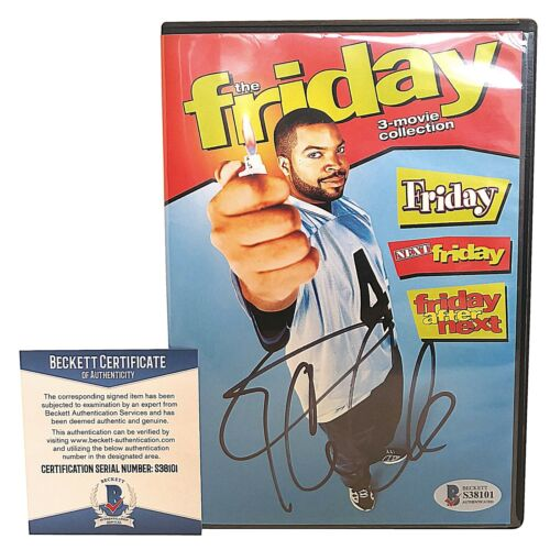 Ice Cube Autograph Signed Friday DVD Movie Cover Set Proof Beckett BAS 3 Videos
