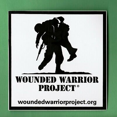 """WOUNDED WARRIOR PROJECT WINDOW DECAL 4"""" X 4"""""""