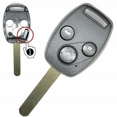 3Tasten Schlüssel Gehäuse Rohling für Honda Civic Accord CR-V Jazz Funkschlüssel