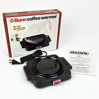Vtg Bunn Coffee Warmer Hot Plate For Single Pot Model Bcw Porcelain Brown Nos