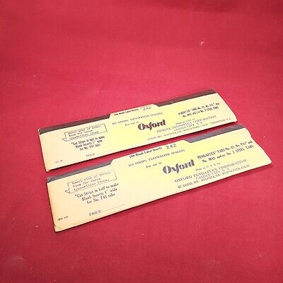 Lot Of 2 Oxford Pendaflex Tabs Stock No. 242 Sealed New Old Stock -100 Labels