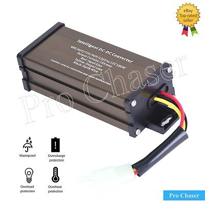 Pro Chaser Dc-dc 60v 72v 120v Converter Regulator Step-down To 12v 180w 15a