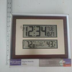 Better Homes & Gardens W 86111 Atomic Digital Clock Bronze Brown Even Forecasts