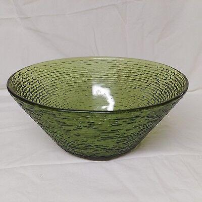 Anchor Hocking Soreno Avocado Green Large Serving Bowl Salad Bowl