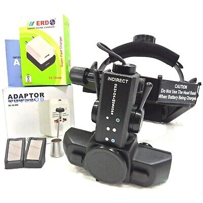 Rechargeable Led Indirect Ophthalmoscope With Accessories Carry Bag