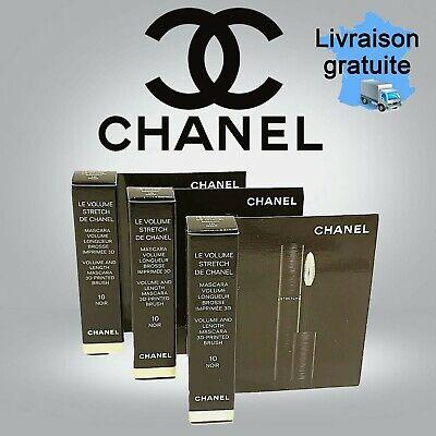 3 mini mascara LE VOLUME STRECH de Chanel (volume et longeur)  10 noir 3×1,5gr