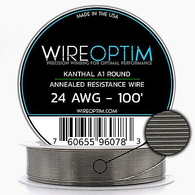 24 Gauge Awg Kanthal A1 Wire 100 Length - Ka1 Wire 24g Ga 0.51 Mm 100 Ft