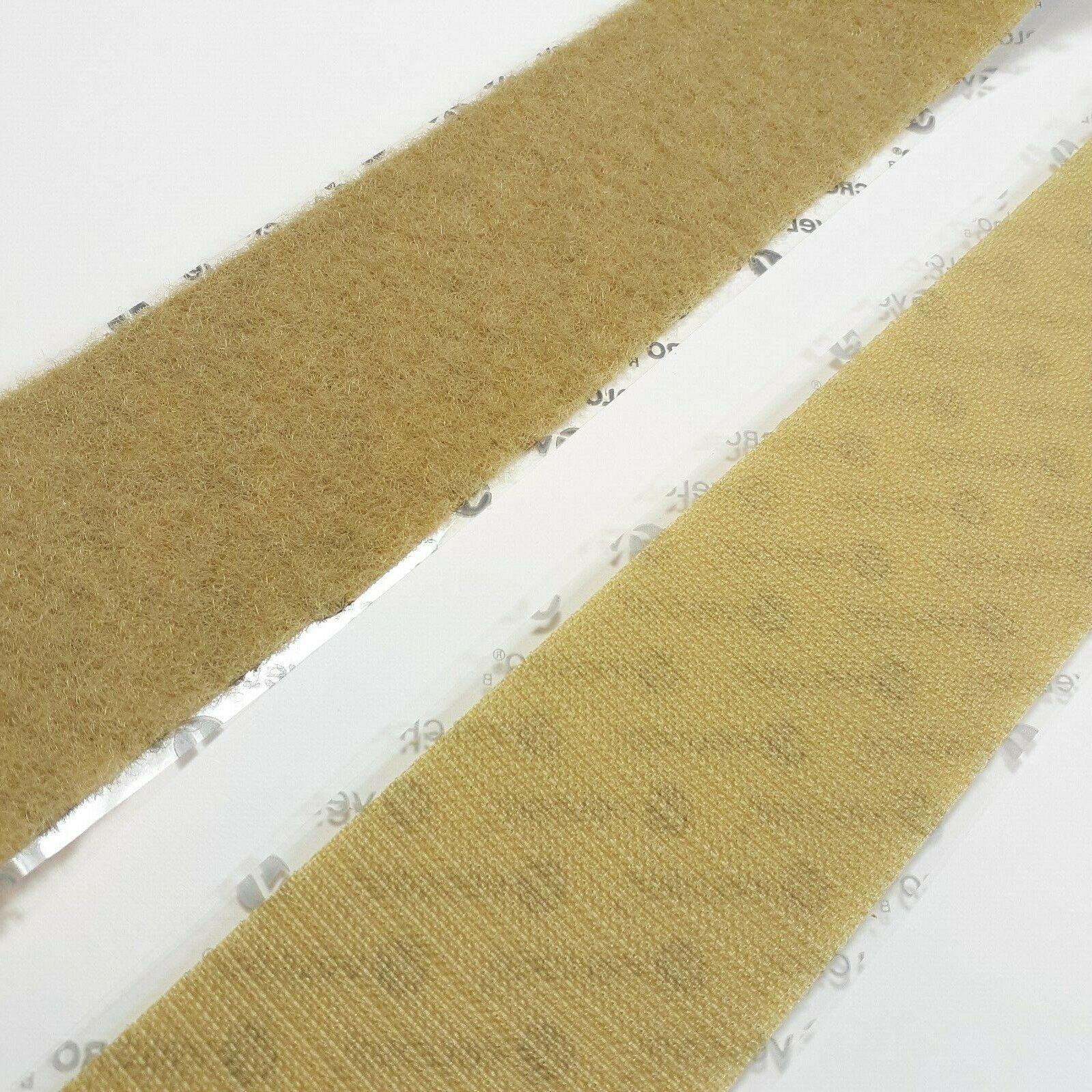 "1"" Wide Beige VELCRO® Brand High Tack Self Adhesive Tape St"