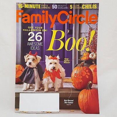 Family Circle Magazine Oct 2016 Halloween Ideas Pasta Dinners Beauty Bargains