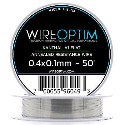 0.4 X 0.1 Mm Kanthal A1 Ribbon Flat Resistance Wire 50 - 50 Ft
