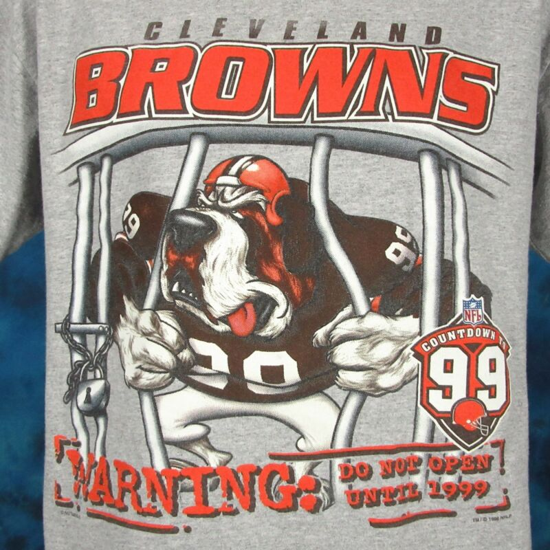 90s cleveland browns dawg pound cartoon t-shirt large dog football nfl 9ce5b6144