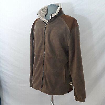 TAG Safari Outdoor Clothing Brown Fleece Zip Up Field Jacket Men