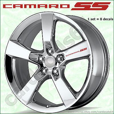 8 X Camaro SS Wheel Decal Sticker Door Handle Chevrolet Emblem Logo Design #1 I Camaro Ss Wheel Emblems