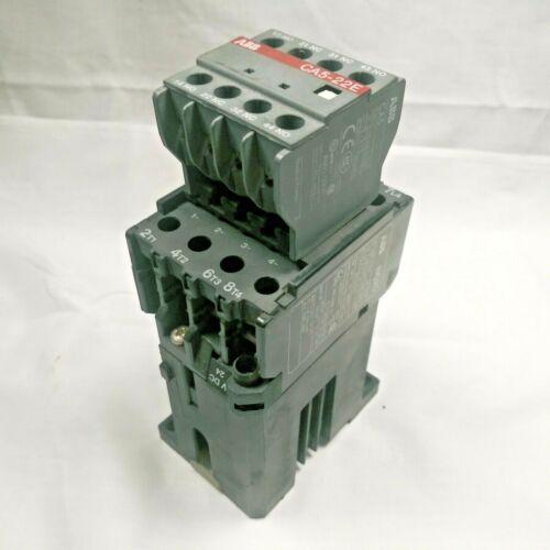 ABB BC25, 3 Pole,45 Amp, Motor Starter, 24V DC Coil, W/CA5-22E Aux Contact