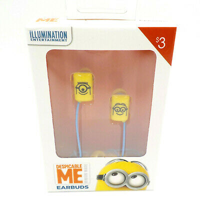 Despicable Me Minion Earbuds, Wired 3.5mm Kids MP3 iPhone iPod iPad Accessory Ipod Earbuds Accessory