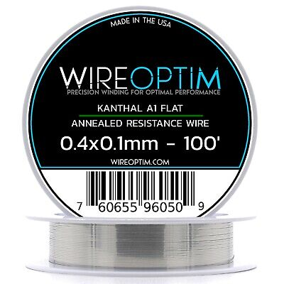 0.4 X 0.1 Mm Kanthal A1 Ribbon Flat Resistance Wire 100 - 100 Ft