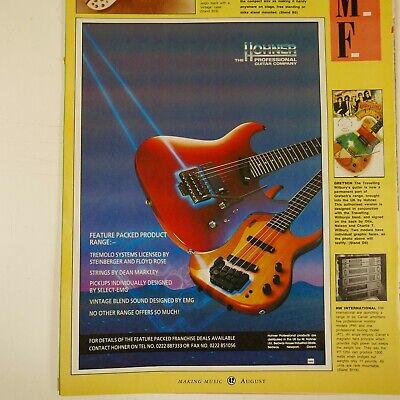 vintage 22x30cm magazine advert cutting HOHNER PROFSSIONAL GUITARS