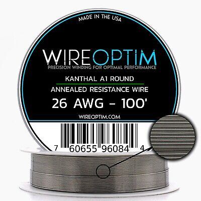 26 Gauge Awg Kanthal A1 Wire 100 Length - Ka1 Wire 26g Ga 0.40 Mm 100 Ft