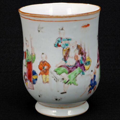 Qing Chinese Polychrome Porcelain Export Tankard 18th century