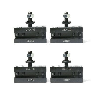 Axa 2 Set Of 4 Quick Change Turning Facing Cnc Lathe Tool Post Holder 250-102