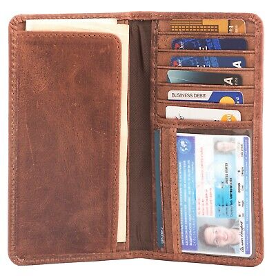 RAWHYD Full Grain Leather Long Bifold Wallet for Men | Perfect Checkbook Cover Mens Leather Checkbook Covers