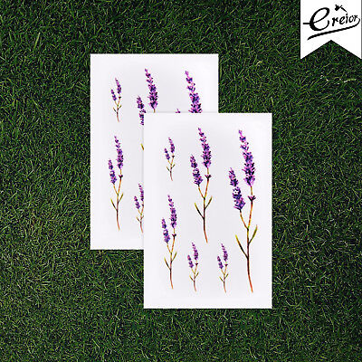 Lavender Flower Temporary Tattoo,Twig,  Nature, Stem, Sizes, Set