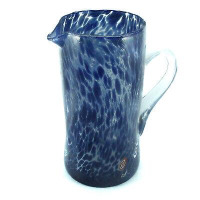 Cristal de Murano Agua la Jarra Azul Rojo Blanco Botella Garrafa Art...
