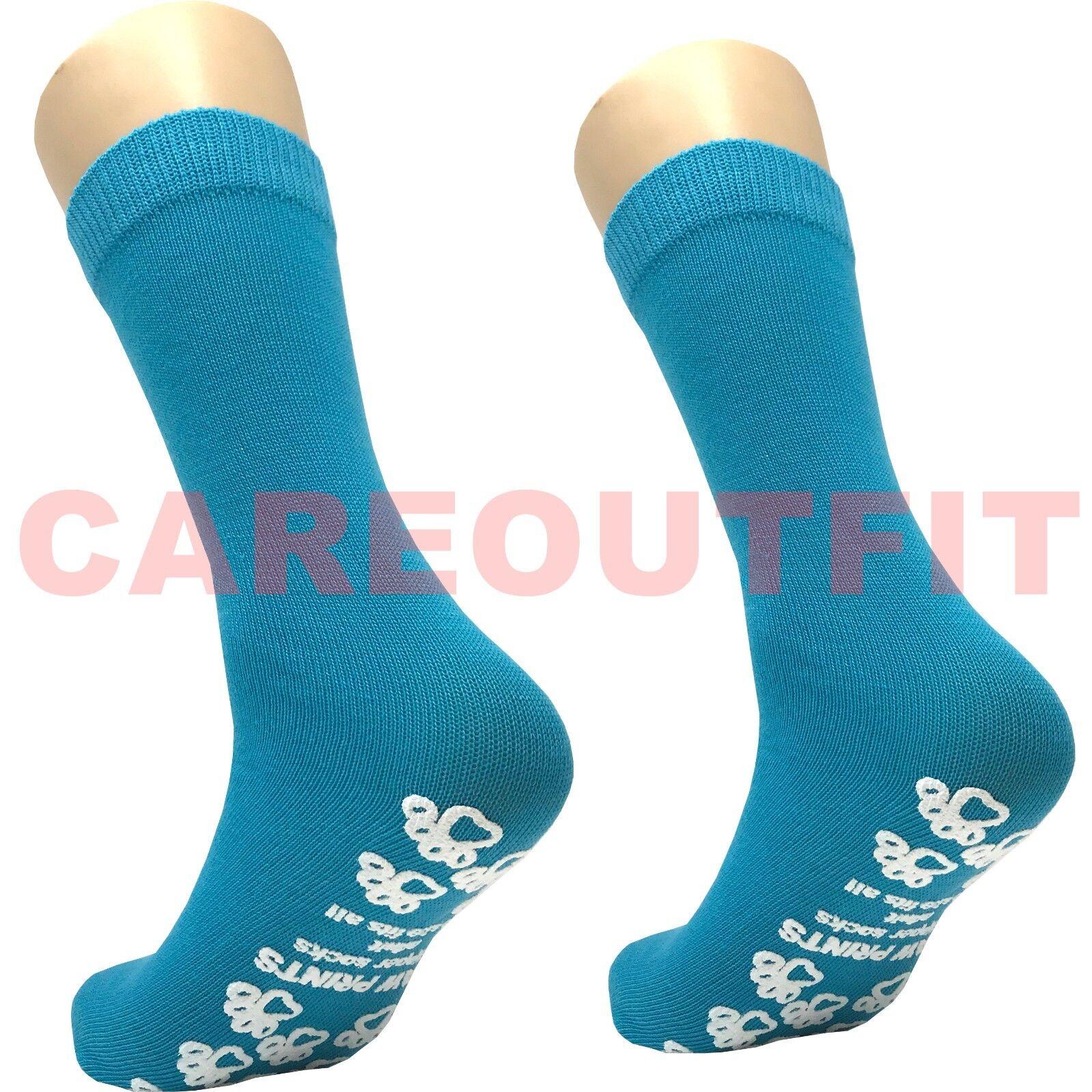Non Slip Slipper Socks One Size Fits Most - Hospital Grade -