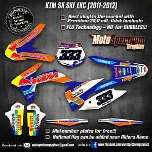KTM SX SXF EXC 125 150  250 300 350 450 2011 2012 graphics decals stickers
