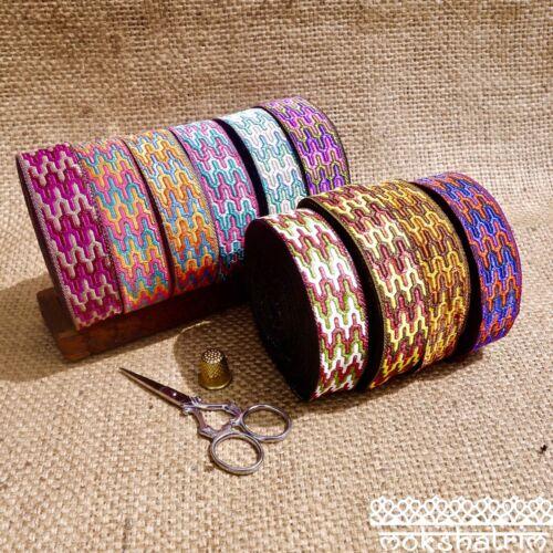 Traditional Indian Asian Spot Square Jacquard Ribbon Trim MA131