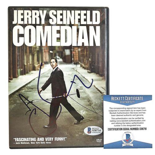 Jerry Seinfeld Signed Comedian DVD Cover Standup Comedy Beckett BAS Autograph