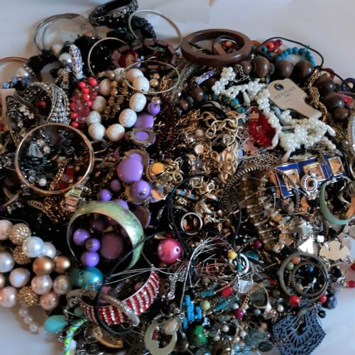 Jewelry Craft Lot Broken DIY Single Earrings Wearable Tarnished Over 15 Pounds