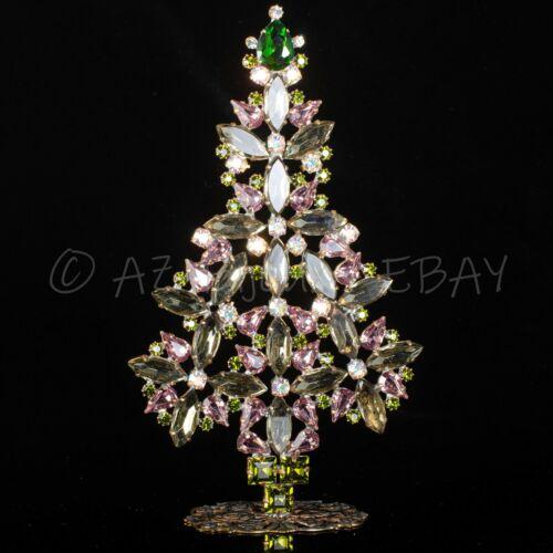 "Christmas tree from Czech republic - stand-up - rhinestone - 7.28"" x 4.13"""
