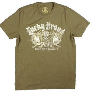 Lucky-Brand-Vintage-Graphic-Denim-MFG-Lions-T-Shirt-M