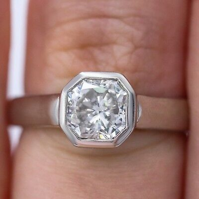 1.01ct Bezel Set Diamond Engagement Ring GIA certified Platinum