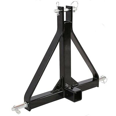 Category 1 Tractor 3 Point Hitch 2 Receiver Tow Drawbar Heavy Duty Tube Steel