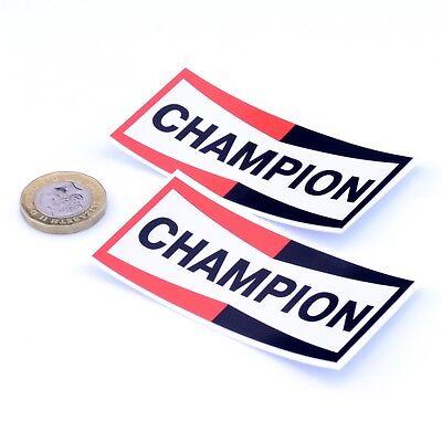 Champion Spark Plugs Stickers Classic Car Motorbike Racing Vinyl Decals 75mm x2