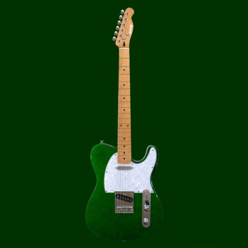 Sparkle Stage Vegas by Quincy Tele Style Electric Guitar Metallic Green T Shape