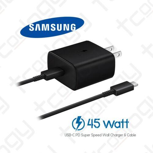 Original Samsung Galaxy 45 Watts USB-C Super Fast Charging Wall Charger & Cable
