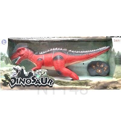 REMOTES CONTROL DINOSAUR WALKS ROARS LIGHTS UP TOY GAME KIDS PLAY GIFT BRAND NEW