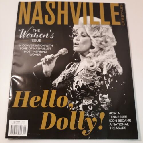 DOLLY PARTON FEATURED ON COVER & INSIDE ARTICLE IN NASHVILLE LIFESTYLE MAGAZINE