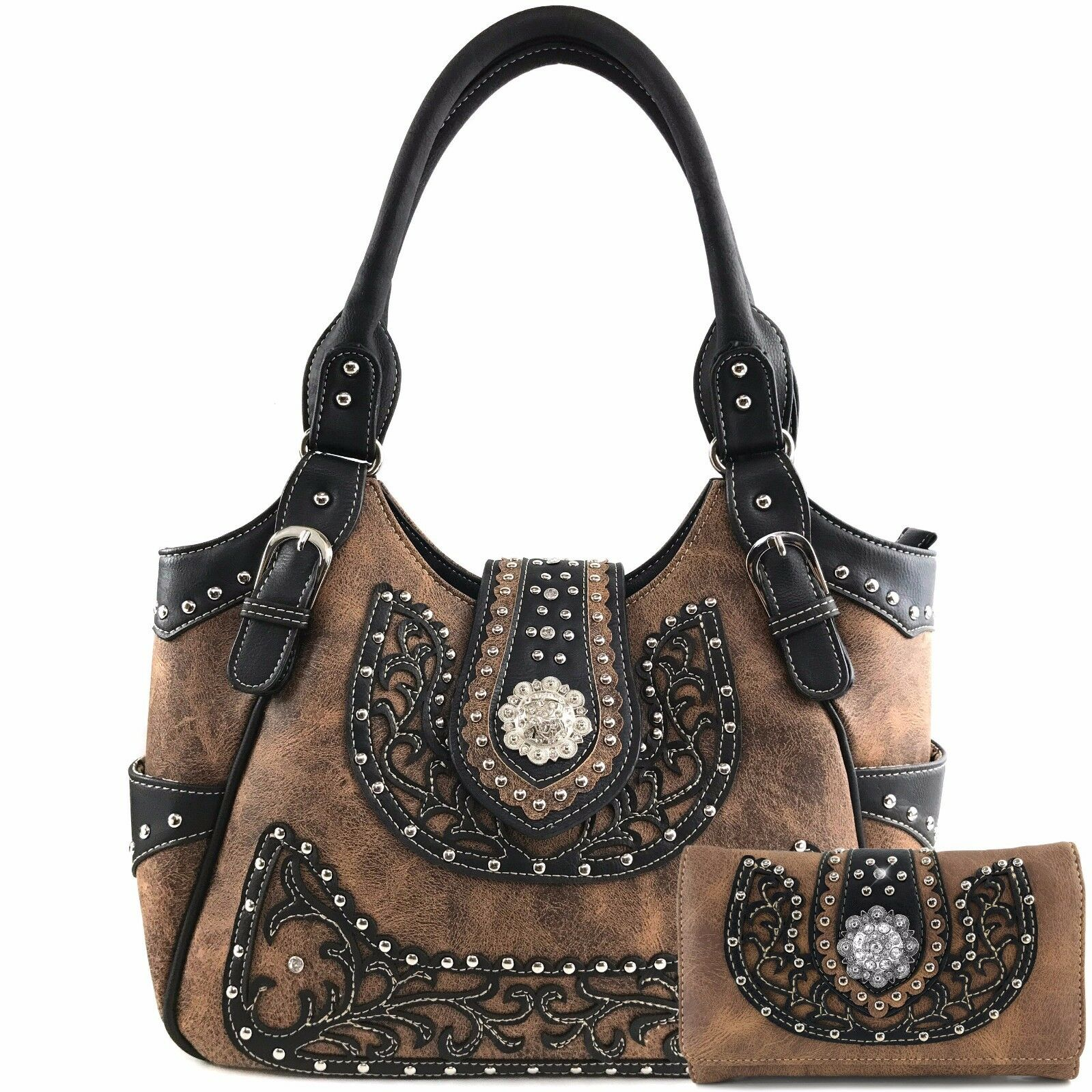 berry concho western floral cut stud conceal