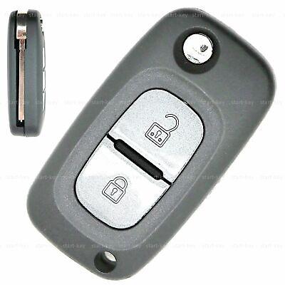 2Tasten Klapp Schlüssel Ersatz Gehäuse repair für Renault Kangoo Mercedes Citan
