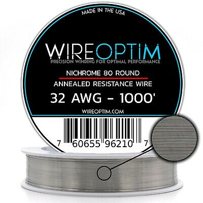 32 Gauge Awg Nichrome 80 Wire 1000 Length - N80 Wire 32g Ga 0.20 Mm 1000 Ft