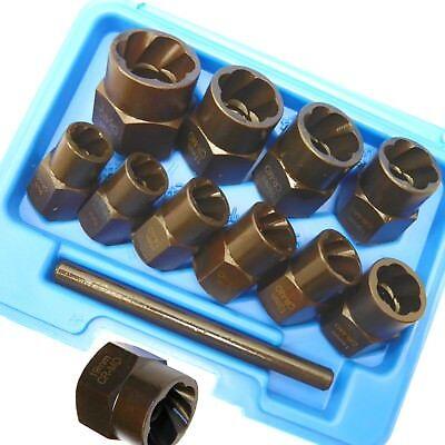 11pc Twist Sockets Locking Wheel Nut Remover Non Slip Broken Studs Rounded Bolts
