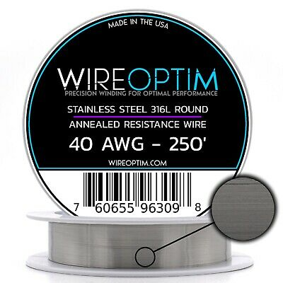 Ss 316l - 40 Awg Stainless Steel Wire 316l 0.0799mm - 250