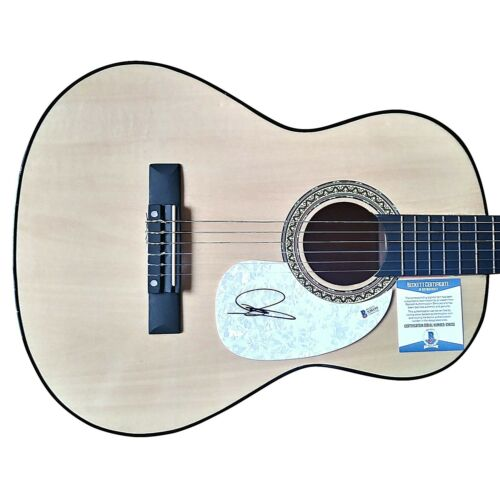 Dustin Lynch Signed Acoustic Guitar Proof Beckett BAS Country Music Autograph