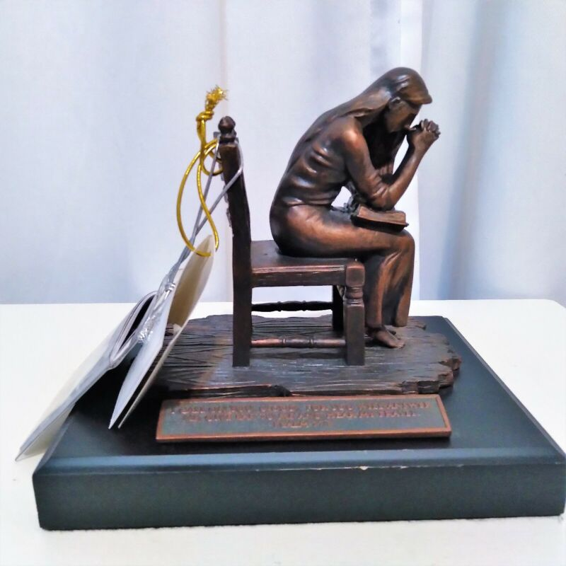 Lighthouse Christian Products Moments of Faith Praying Woman Resin Sculpture