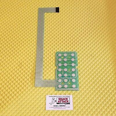 Crane National 145 146 Snack Vending Machine Key Pad Membrane Free Ship