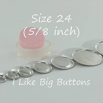 """100 FLAT BACK Size 24 (5/8""""/15mm) Cover/Covered Buttons Fabric SELF COVER BUTTON for sale  Valleyford"""